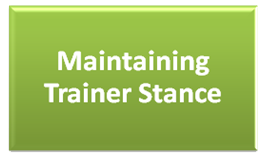 Maintaining Trainer Stance